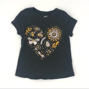 Old Navy Graphic Heart Top Size 5T